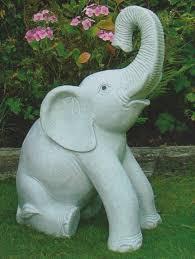 sitting elephant granite garden sculpture ornament gardensite co uk
