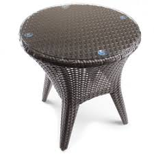 Patio Accent Table Threshold Rolston Wicker Patio Accent Table