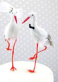 stork cake topper white crane wedding cake topper groom birds stork