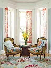 Armchair Blue Design Ideas Interior Window Curtains Also Bay Window Design Mixed