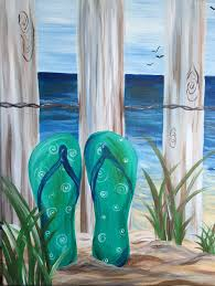 flip flop canvas paintings google search spring and summer