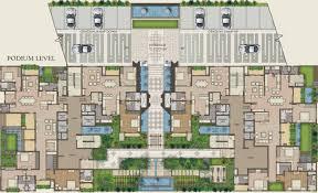 Podium Floor Plan by Landmark Vertica By Landmark Construction In Royapettah Chennai