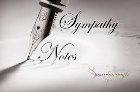 sympathy notes sympathy card messages