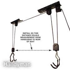 Bicycle Ceiling Hoist by Easy Garage Storage Solutions Family Handyman