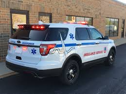code 3 pursuit light bar 2017 ford interceptor utility ems emergency vehicle upfitting