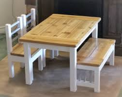 Childrens Table Set Kids Table Reclaimed Wood Kid S Farmhouse