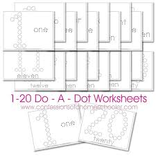 free 1 20 do a dot number printable worksheets free homeschool
