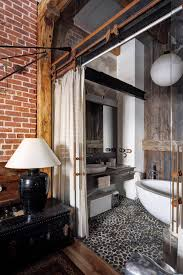 Bachelor Pad Bathroom Industrial Bachelor Pad Loft Design In Russian Home Design And