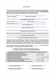Cars Bill Of Sale by 9 Car Bill Of Sale Form Sample Free Sample Example Format Download