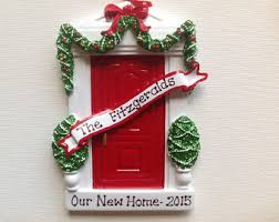 personalized christmas ornament black door new home new