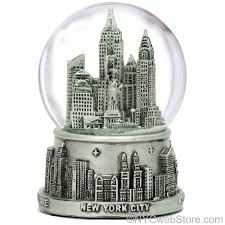 new york city snow globe silver nyc snow globes at 3 5 inches