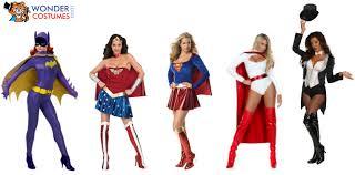 Superhero Halloween Costumes Women Iconic Dc Female Superhero Costumes