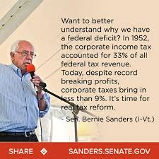 Income Tax Meme - bernie sanders says tax share paid by corporations has fallen from