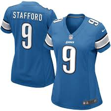 Nike Light Women U0027s Detroit Lions Matthew Stafford Nike Light Blue Game Jersey