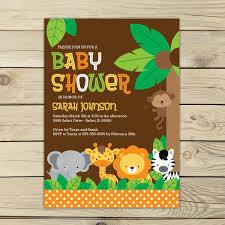jungle themed baby shower baby shower jungle theme invitations jungle safari ba shower
