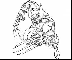 fantastic wolverine coloring pages printable with wolverine