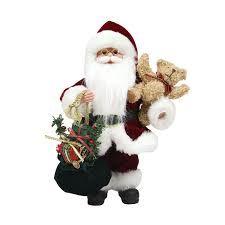 amazon com northlight santa claus in traditional red suit holding