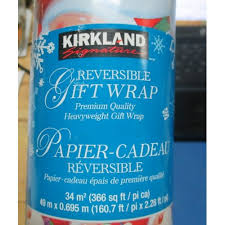 reversible christmas wrapping paper paper kirkland gift wrap christmas