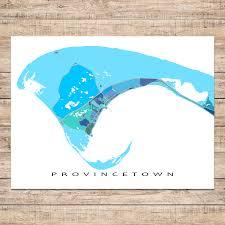 provincetown map print cape cod blue u2013 maps as art