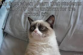 School Trip Meme - grumpy on field trip quickmeme