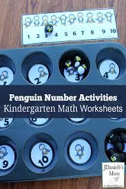 kindergarten math worksheets penguin number activities