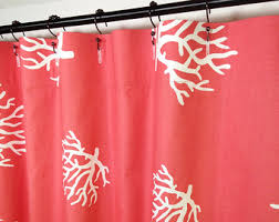 Shower Curtain 84 Length Coral Shower Curtain Etsy