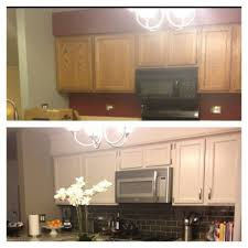 hide soffit above kitchen cabinets adding crown molding adding