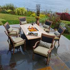 Patio Chairs Uk Patio Furniture With Propane Fire Pit Table Home Design Inspirations