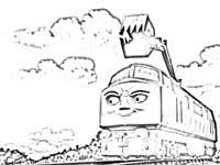free diesels coloring pages print thomas train