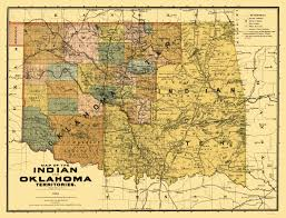 Topeka Zip Code Map by Old State Map Oklahoma Indian Territory 1894