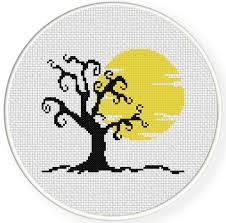 tree cross stitch pattern daily cross stitch