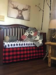 Plaid Crib Bedding Baby Quilt Boy Woodland Buffalo Plaid Crib Bedding