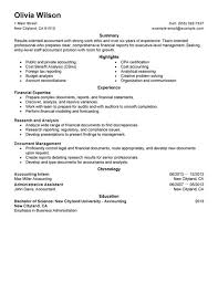 Finance Resumes Examples by Example Of Accountant Resume