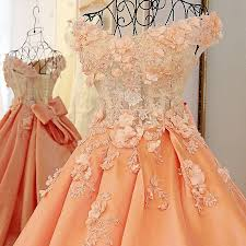 wedding dress brokat pink orange bridal toast wedding dress flowers beading