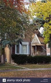typical chicago house english tudor style stock photo royalty