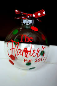personalized clear glass ornament for favors