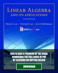 linear algebra and its applications 5th edition pdf by robert m