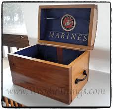 marine corps treasure chest woody things llc