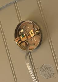 Electrical Box For Wall Sconce How To Convert A Hardwired Wall Sconce To A In The Six Fix