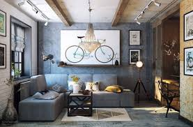 cozy industrial living room design in grey tones made in china