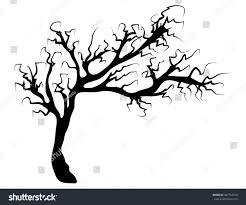 creepy cool halloween background halloween creepy scary bare tree vector stock vector 487752370