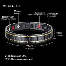 magnetic bracelet stainless images Meaeguet health bio magnetic bracelet super far infrared germanium jpg