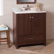 Glacier Bay Vanity Top St Paul Highland 31 In Vanity In Truffle With Cast Polymers
