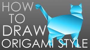 Origami Illustrator - how to draw in origami style adobe illustrator tutorial 4