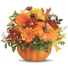 pumpkin flowers bouquet for autumn and thanksgiving