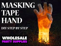 diy masking tape hand prop wholesale halloween costumes blog