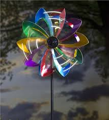 wind spinners with led lights led flower wind spinner wind spinners plow hearth
