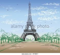 eiffel tower vector sketch stock photos u0026 eiffel tower vector