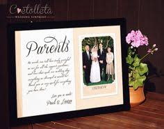 wedding gift parents all that we are we owe to our parents personalized picture