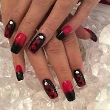 8 black and red toe nail designs 27 black and red nail art